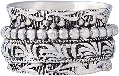 Style UK61 /« DANSEUR /» bague tournante de m/éditation en argent sterling Energy Stone