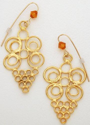 Amazoncom Earrings Ghana 24 Carat Gold Plated Dangle