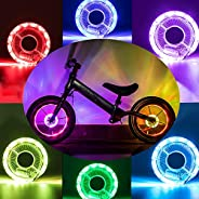 LeBoLike Rechargeable Bike Wheel Hub Lights LED Waterproof Bicycle Spoke Lights Cycling Safety Decoration for