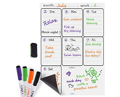 Magnetic Planner Whiteboard Calendar Refrigerator product image