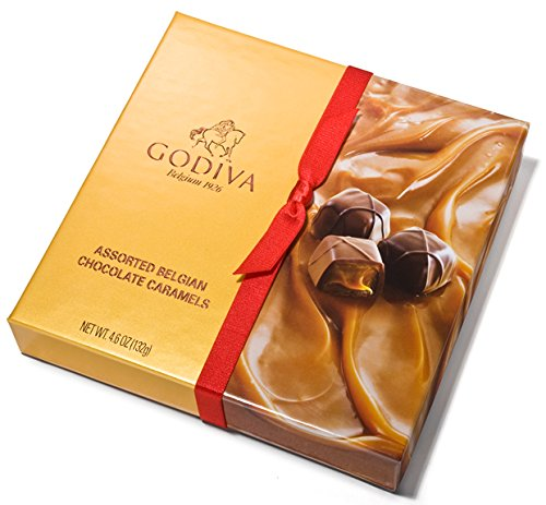Godiva Chocolatier Trayed Chocolate Caramels Gift Box 4.6oz