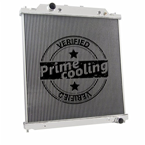 2 Row Dual-Core Aluminum Radiator for Ford F250 /F350 /Excursion 2003-07 (6.0L Turbo Diesel Powerstroke Engine)
