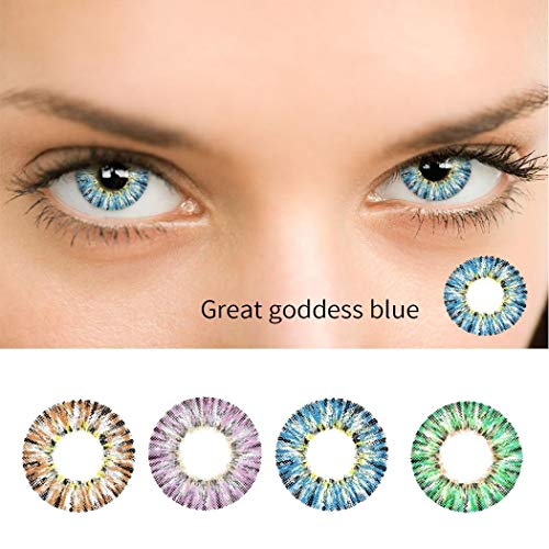 Dickin Multi-Color Cute Contact Lenses Color Blends Cosplay Eyes Cosmetic Makeup Eye Shadow (1 - Contacts Blue For Eyes