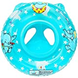 Sealive Inflatable Baby Pool Float Swimming Ring With Handle, Great Baby Shower Gift for Learning Swim (Blue)