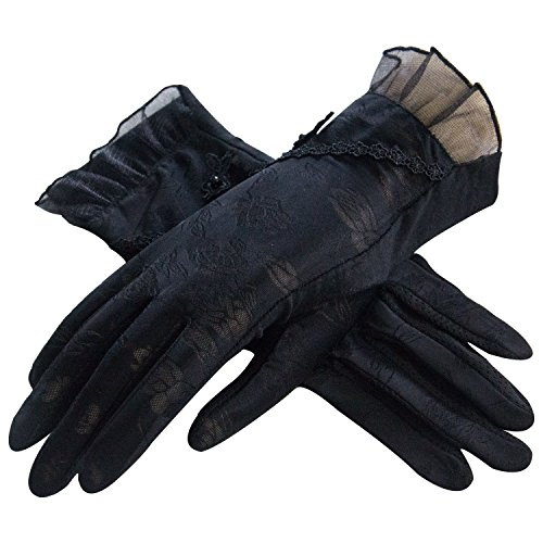LANTINA summer women's touchscreen lace sun gloves Anti-skid for work or tea - Day Boxing Sales Brisbane