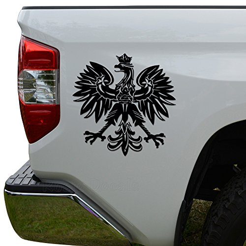 Rosie Decals Polish Eagle Emblem Die Cut Vinyl Decal Sticker For Car Truck Motorcycle Window Bumper Wall Decor Size- [20 inch/50 cm] Wide Color- Matte White - Polish Eagle Emblem