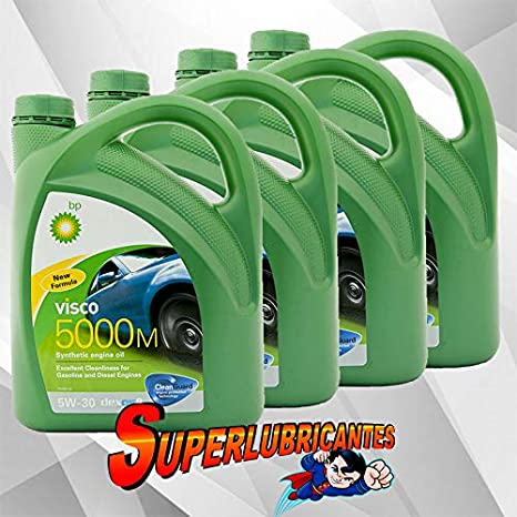 BP Visco 5000M 5W30 4x4L(16Litros): Amazon.es: Coche y moto