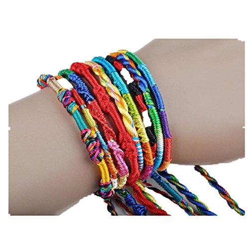 Challyhope 40Pcs Wholesale Jewelry Lot Braid Strands String Lucky Bracelet Friendship Cords Handmade Bracelets from Challyhope Clearance