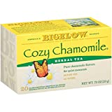 Bigelow Cozy Chamomile Herbal Tea Bags 20-Count Boxes (Pack of 6), 120 Tea Bags Total, Caffeine-Free Individual Herbal Tisane Bags, for Hot or Iced Tea, Drink Plain or Sweetened with Honey or Sugar