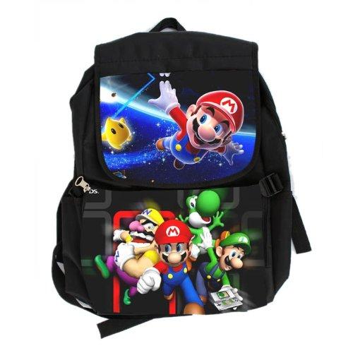 Nintendo Super Mario Bros Wii Large School Backpack Bag A...