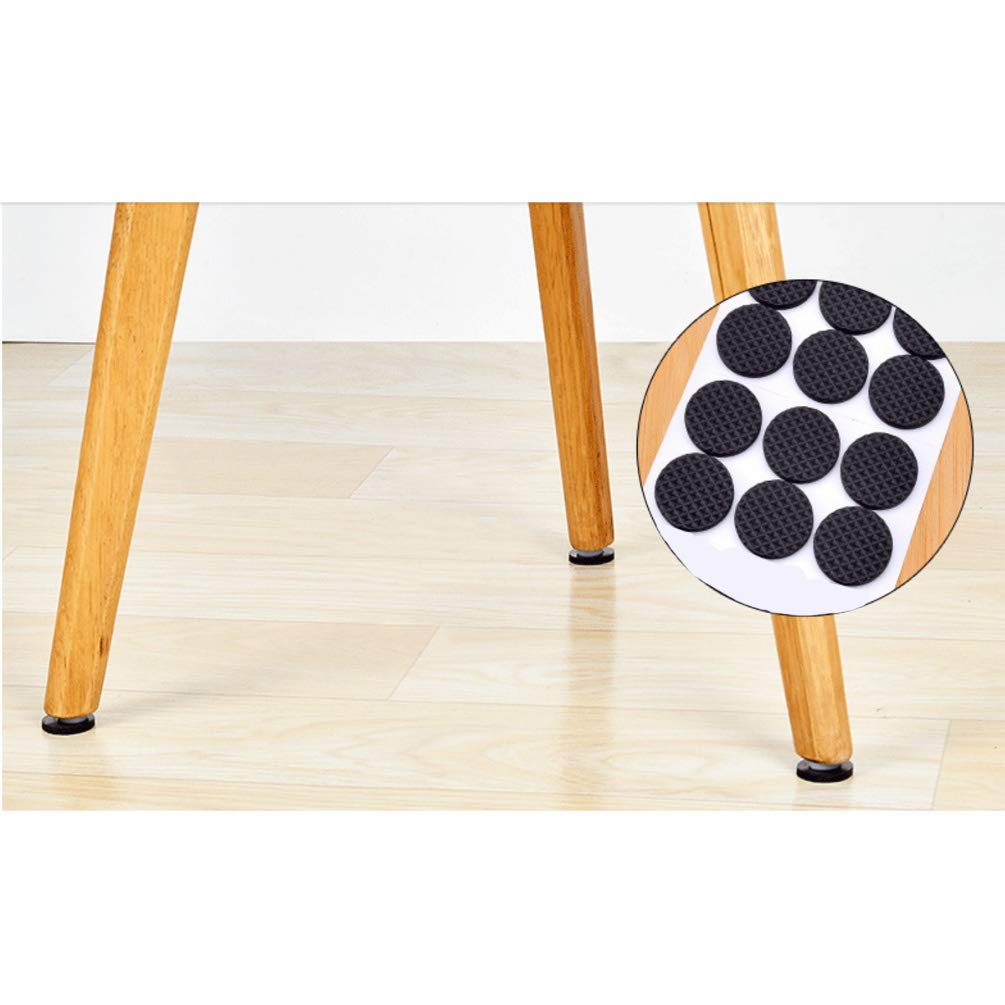 Round Square Shape Self Adhesive, Non-Slip Furniture Pads, Chair Sofa Table Sticky Floor Protector - Round by VoguSaNa (Image #2)