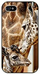 """iPhone 6 (4.7"""") Mon and son giraffe - black plastic case / Animals and Nature By SHURELOCK TM"""