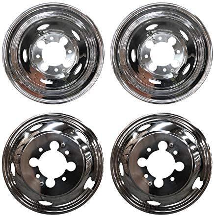 "4 fits DODGE 16/"" Dual Wheel Simulators Dually 8 Lug Rim Skins Liners Hub Covers"