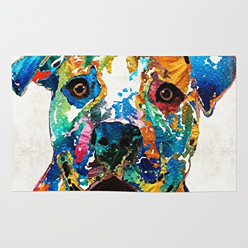 Society6 Colorful Dog Pit Bull product image