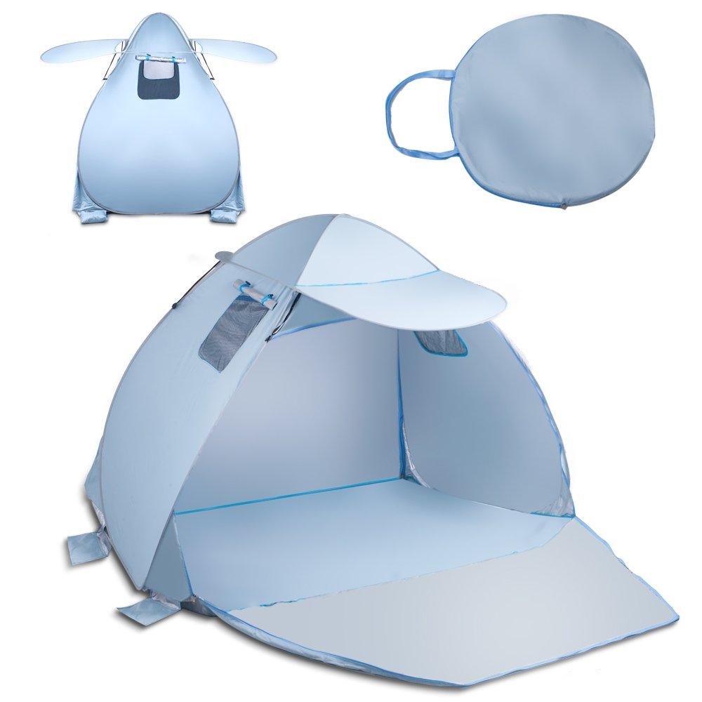 SehrGo Tente de Plage d'extérieur Soleil Tente Parasol Abri pour la Pêche Camping Randonnée Pique-Nique Park
