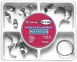 Dental Saddle Contoured Metal Matrices Matrix 18 pcs.
