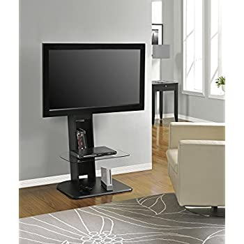 """Ameriwood Home Galaxy TV Stand with Mount for TVs up to 50"""", Black"""