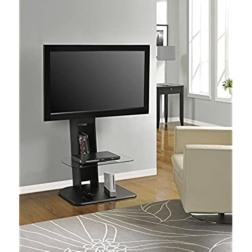 ameriwood home galaxy tv stand with mount for tvs up to 50 black - Unique Tv Stands