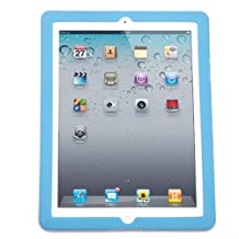 HDE iPad 2 Silicone Skin - Rubber Case Back Protection Bumper Cover for Apple iPad 2 3 4 (Aquamarine)