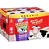 Horizon Organic Low Fat Organic Milk Box, Vanilla, 8 Ounce (Pack of 60)
