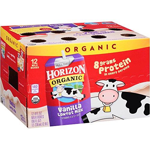Horizon Organic Low Fat Organic Milk Box, Vanilla, 8 Ounce (Pack of 60) by HORIZON ORGANIC DAIRY