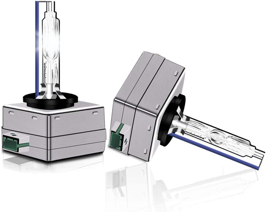 Carrep D1S 6000K Crystal White Xenon Headlight HID Bulbs 66144 66140 85140 85415, Pack of 2