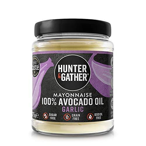 Hunter & Gather Knoflook Avocado-olie Mayonaise – 175g | Gemaakt met Zuiver Avocado-olie en Britse scharreleieren…