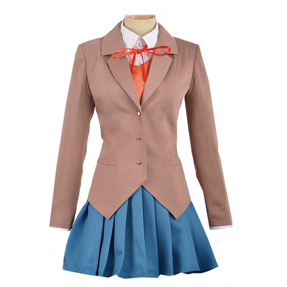 Expeke Women Sayori Yuri Natsuki Monika Uniform Cosplay Costume (Women S, Style 1)