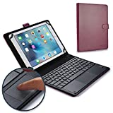 Cooper TOUCHPAD Executive Keyboard case Compatible with Allview 3 Speed Quad, AllDro 3 Speed T | 2-in-1 Bluetooth Wireless Keyboard with Touchpad & Leather Folio Cover | Touchpad Mouse (Purple)