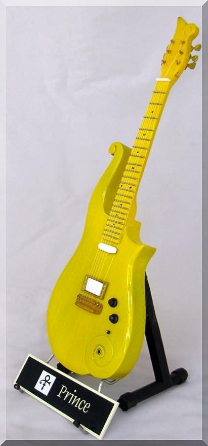 Prince Guitarra en miniatura Mini Nube Amarillo/melocotón W/Nombre ...