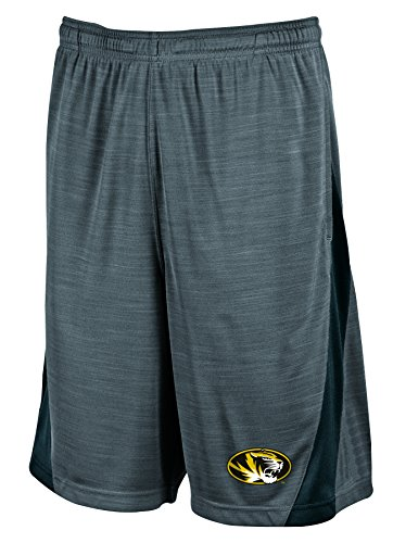 NCAA Missouri Tigers Men's Boosted Stripe Color Blocked Training Shorts, Large, ()