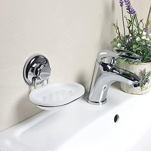 Vacuum Suction Cup Soap Dish Holder By Strong Stainless