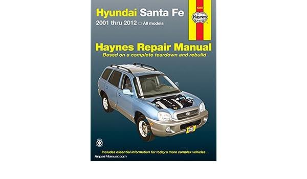 2012 hyundai santa fe repair manual