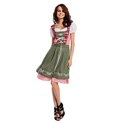 Ladies Heidi Oktoberfest Beer Maid Wench German Bavarian Fancy Dress Costume SIZES S-3XL