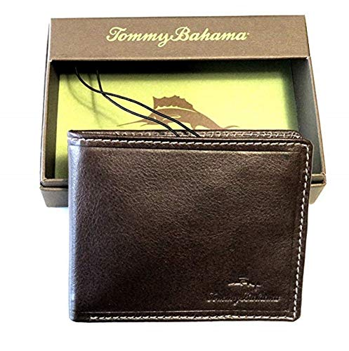 Tommy Bahama Men's Tri-Fold Passport Wallet ARUBA Brown (Tommy And Big Bahama Clearance Tall)
