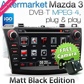 Reproductor de DVD GPS para Coche para Mazda 3 Mazda3 de 8 Pulgadas, estéreo, navegador, Radio Digital, TV, MP3: Amazon.es: Coche y moto