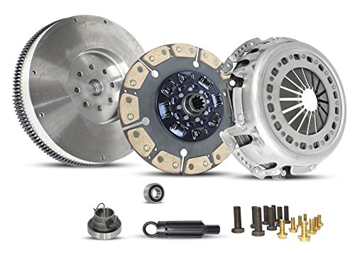 Puck Clutch Solid Disc - Clutch With Flywheel Kit Ram 2500-5500 Dodge Ram 2500-3500 2005-2014 5.9L L6 6.7L L6 DIESEL OHV Turbocharged (This Clutch Kit Works Only With 13