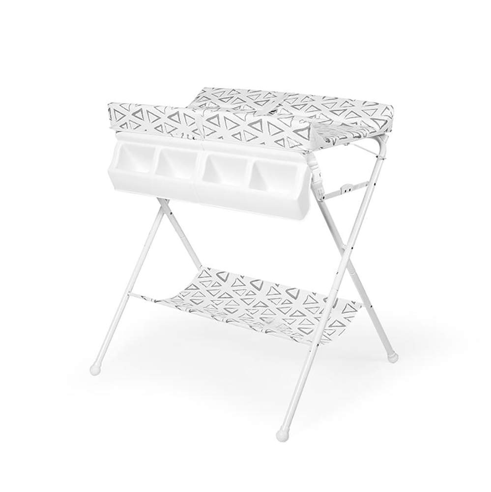 HSRG Newborn Baby Changing Table Multifunction Baby Bathing Station Foldable Portable Diaper Station Nursery Organizer for Infant,Gray