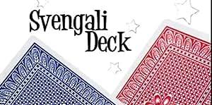 Pro Brand Bridge Size Svengali Deck - Easy Magic Card Tricks - Red or Blue