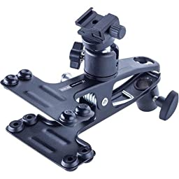 Flashpoint Spring Clip Clamp with Ball Head Shoe Mount