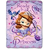 The Northwest Company Disney's Sofia The First Ready To Be A Princess Micro Raschel Blanket, 46 by 60-Inch
