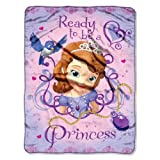 "Disney's Sofia The First, ""Ready To Be A Princess"" Micro Raschel Throw Blanket, 46"" x 60"", Multi Color"