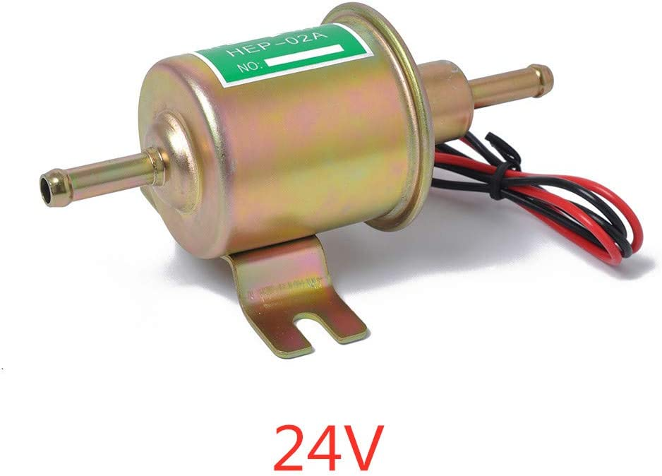 24V LOVELYCHICA 24 V Universal Electronic Diesel Petrol pump Electric Fuel Pump Metal Car Motorcycle Modification Parts Electronic Fuel Pump