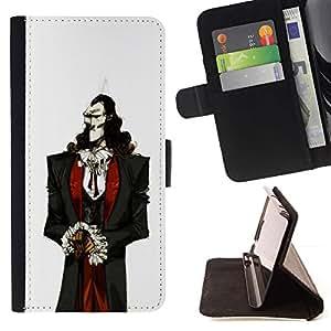 Momo Phone Case / Flip Funda de Cuero Case Cover - Vampiro aristócrata Hombre Blanco Piel Negro Cabello - Samsung Galaxy J1 J100