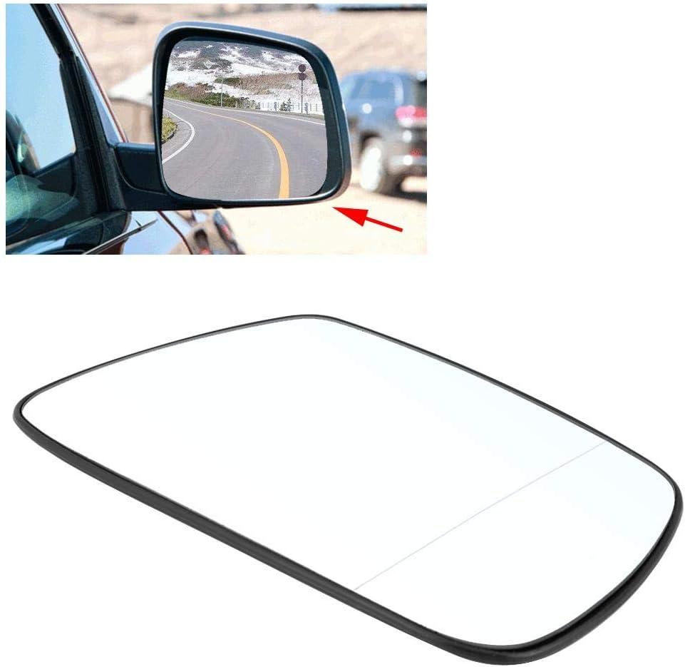 Retrovisor exterior de cristal Delaman auto apropiado puerta lateral del ala espejo de vidrio caliente Compatible con Jeep Grand Cherokee 2005-2010