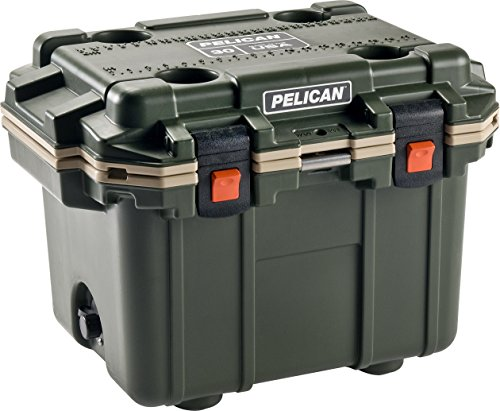 Pelican Elite 30 Quart Cooler (Green/Tan)