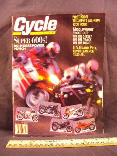 1991 91 July CYCLE Magazine (Features: Road Test on Kawasaki EL250HS / EL 250 HS, BMW R100GS / R 100 GS, Honda CBR600F2 / CBR 600 F2, Yamaha FZR600R / FXR 600 R, & Kawasaki ZX - 6) Honda Cbr600f2 Cbr