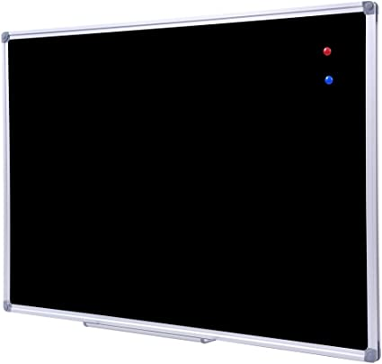 Amazon Com Dexboard 36 X 48 Inch School Large Black Chalkboard For Wall Hanging Magnetic Black Board With Aluminum Frame And Marker Tray Office Products