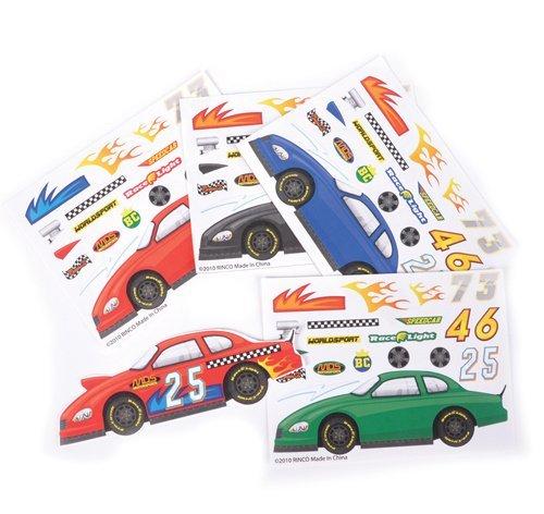 ~ 12 ~ Make-a-Race Car Sticker Sheets ~ New