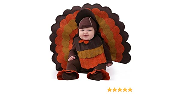 Lil/' Gobbler Infant Toddler Costume Jumpsuit Turkey Bird Thanksgiving Halloween
